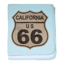 California Route 66 baby blanket