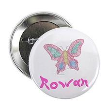 Pink Butterfly Rowan Button