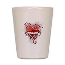 Heart California Shot Glass
