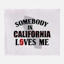 Somebody In California Throw Blanket