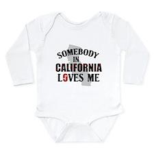 Somebody In California Long Sleeve Infant Bodysuit
