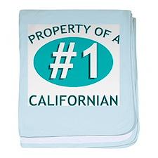 Property Of Californian baby blanket
