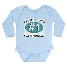 Property Of Californian Long Sleeve Infant Bodysui