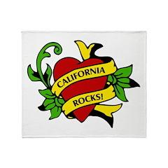 California Rocks Throw Blanket