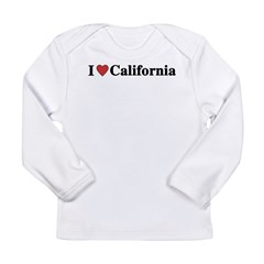 I (Heart) California Long Sleeve Infant T-Shirt