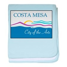 Costa Mesa Flag baby blanket