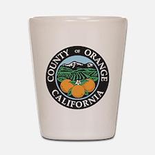 Orange County Seal Shot Glass