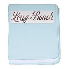Vintage Long Beach baby blanket