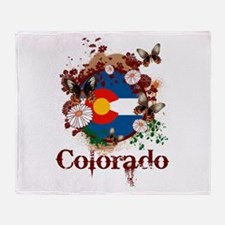 Butterfly Colorado Throw Blanket
