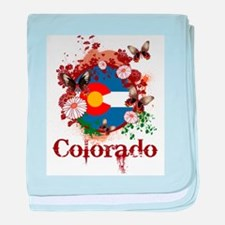 Butterfly Colorado baby blanket