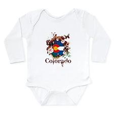 Butterfly Colorado Long Sleeve Infant Bodysuit
