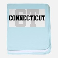 CT Connecticut baby blanket