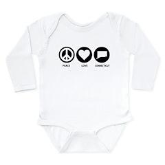 Peace Love Connecticut Long Sleeve Infant Bodysuit