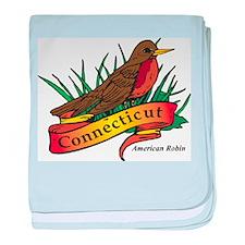 Connecticut Robin baby blanket