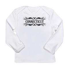 Connecticut Tribal Tattoo Long Sleeve Infant T-Shi