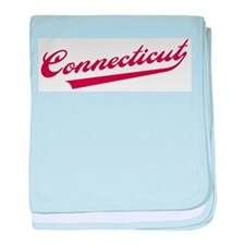 Retro Connecticut baby blanket