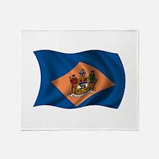 Wavy Delaware Flag Throw Blanket