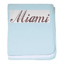 Vintage Miami baby blanket