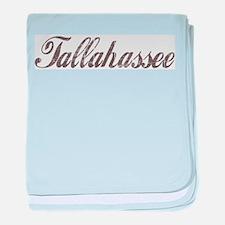Vintage Tallahassee baby blanket