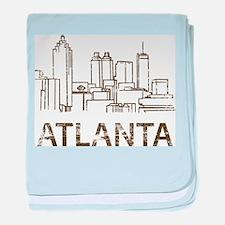 Vintage Atlanta baby blanket