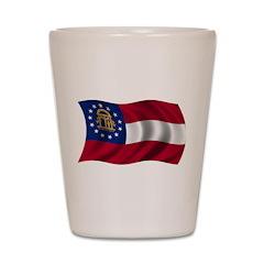 Wavy Georgia Flag Shot Glass