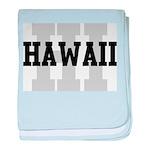 HI Hawaii baby blanket
