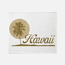 Palm Tree Hawaii Throw Blanket