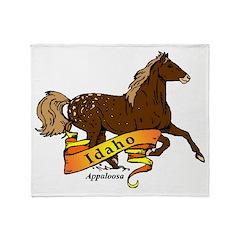 Idaho Horse Throw Blanket