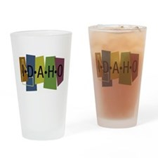 Colorful Idaho Pint Glass