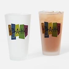 Colorful Idaho Pint Glass