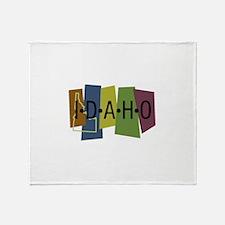 Colorful Idaho Throw Blanket