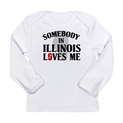Somebody In Illinois Long Sleeve Infant T-Shirt