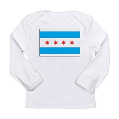 Chicago Flag Long Sleeve Infant T-Shirt