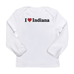 I Love Indiana Long Sleeve Infant T-Shirt
