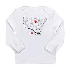I Love Iowa Long Sleeve Infant T-Shirt