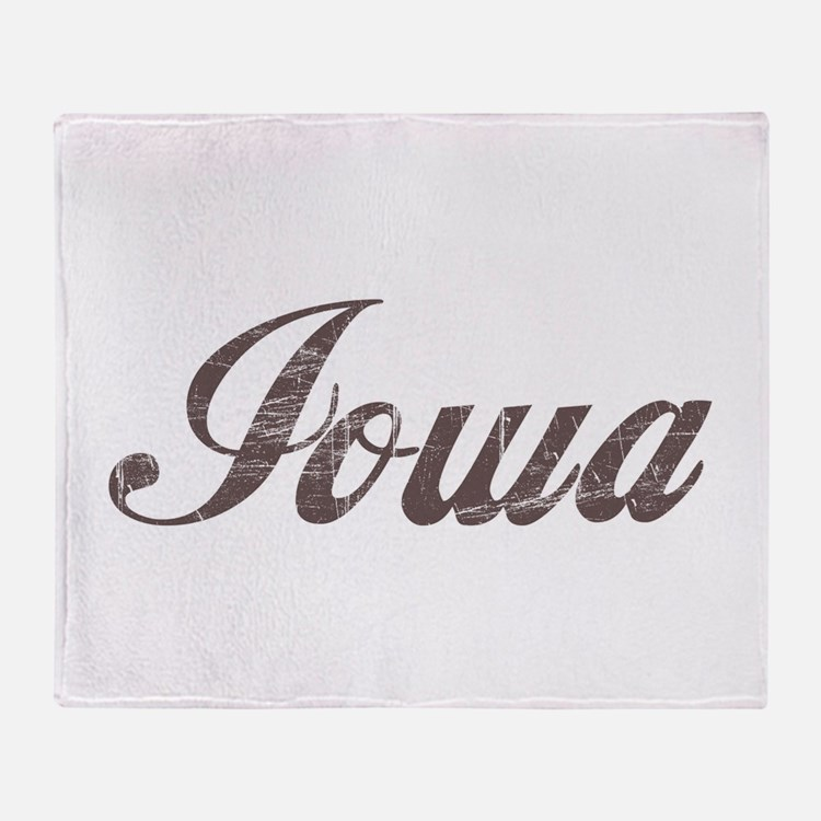 Vintage Iowa Throw Blanket