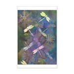 dragonflies and snowflakes mini poster