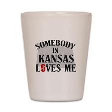 Somebody In Kansas Shot Glass