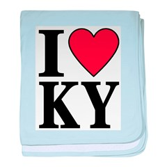 I Love Kentucky baby blanket