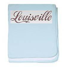 Vintage Louisville baby blanket