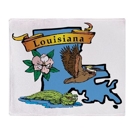 Louisiana Throw Blanket
