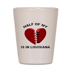 Heart In Louisiana Shot Glass