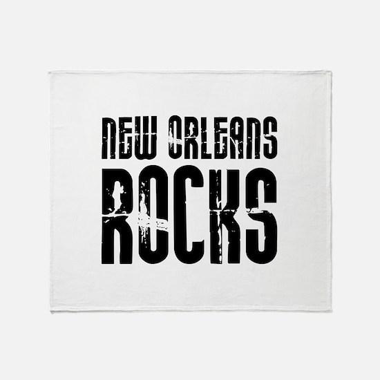 New Orleans Rocks Throw Blanket