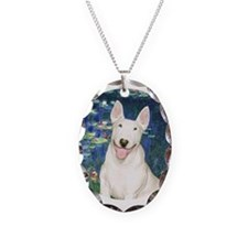 Lilies5 - Bull T #4 Necklace Oval Charm