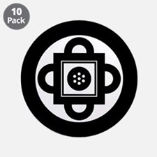 "Shambhala Symbol 3.5"" Button (10 pack)"