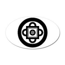Shambhala Symbol 22x14 Oval Wall Peel