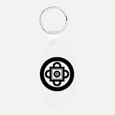 Shambhala Symbol Aluminum Oval Keychain
