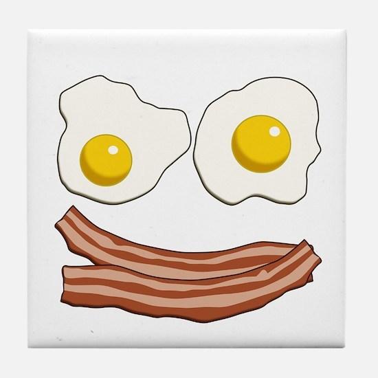 Bacon and Eggs Tile Coaster
