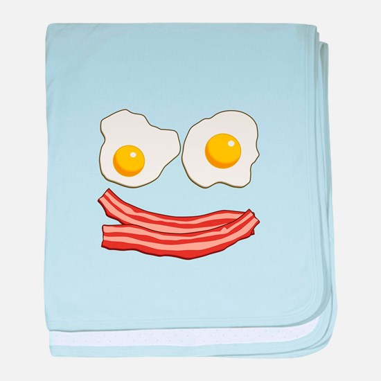 Bacon and Eggs baby blanket