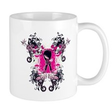 fancy emo girl kid with crossbone skull swirls Mug